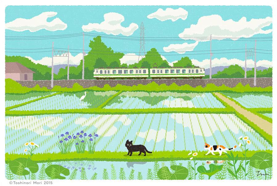Tabineko: May. Illustration by Toshinori Mori