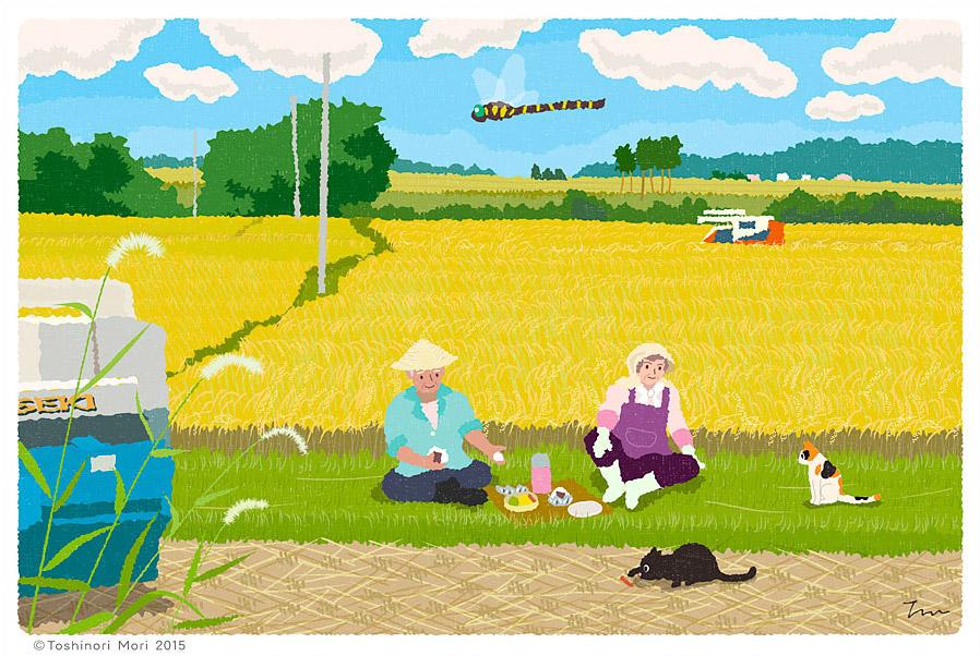 Tabineko: August. Illustration by Toshinori Mori