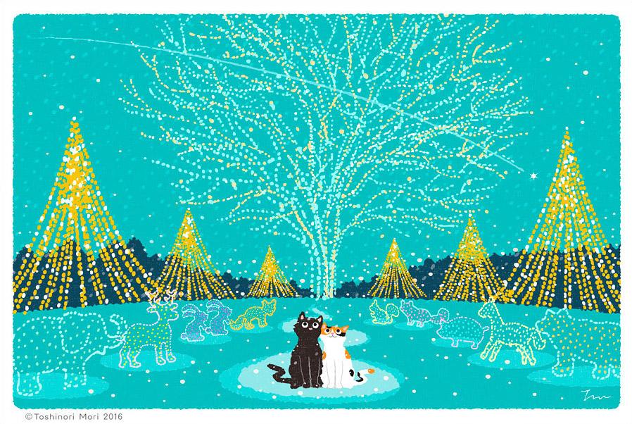 Tabineko: December. Illustration by Toshinori Mori