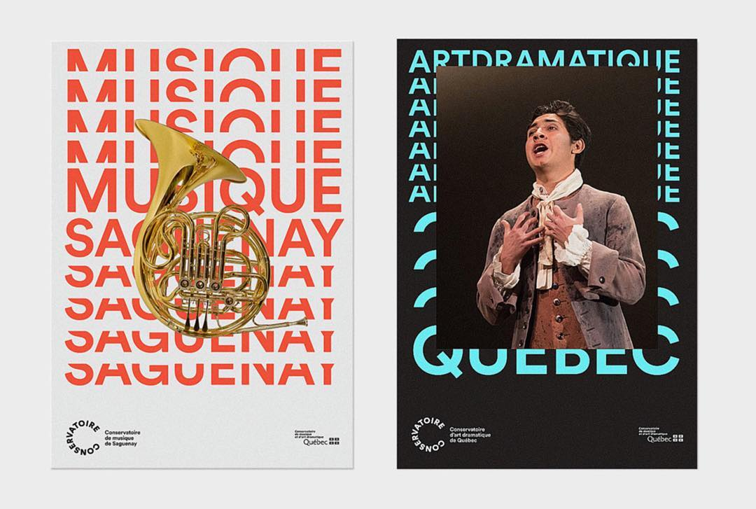 @polygraphe.ca creates the new visual identity for the Conservatoire de musique et d'art dramatique du Québec. With a nice use of typography, happy colors and some iconic objects, the team  succeed to realize dynamic images who match with music and drama @etapes